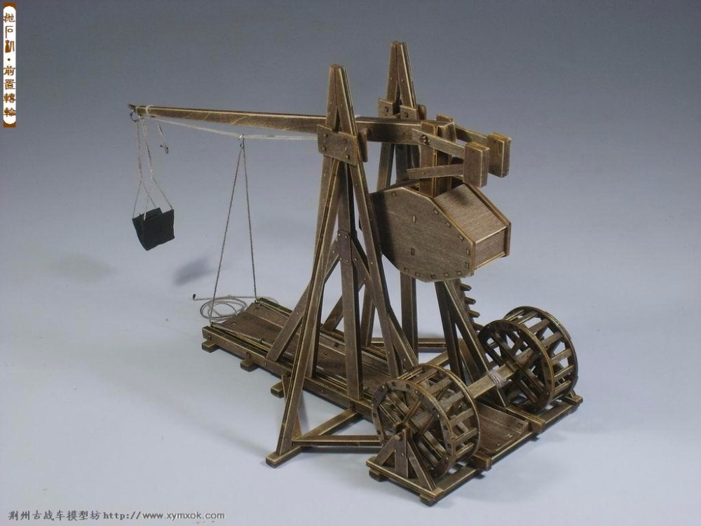 Classic Ancient Chariots The Age Of Empires Model Kits Trebuchet - Heavy Catapult Model