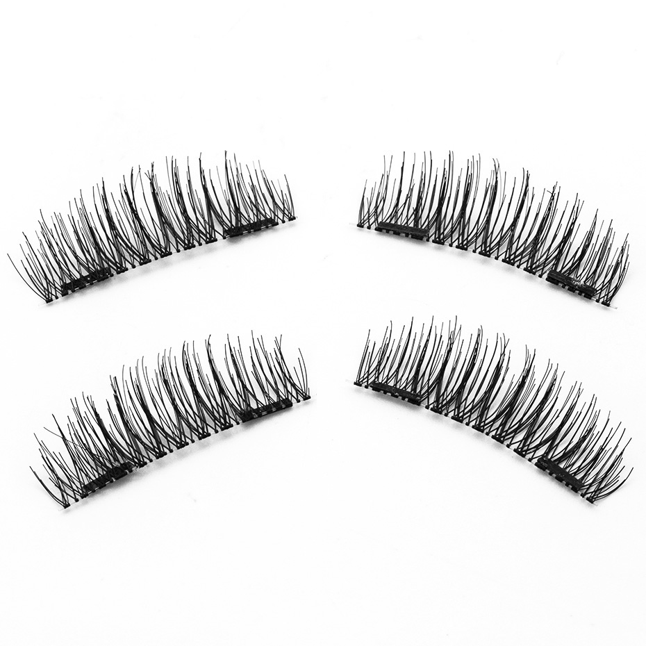 <font><b>Shozy</b></font> 0.2mm <font><b>Magnetic</b></font> Lashes 6D Magnet <font><b>Eyelashes</b></font> 4 Pcs/1 Pair Thick Fake <font><b>Eyelashes</b></font> extension with 2 pieces Magnet-24P-S image