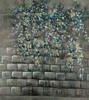 Oil Painting Style Brick Wall Flower Vinyl Cloth Photography Backdrops For Wedding Kids Baby Photo Studio