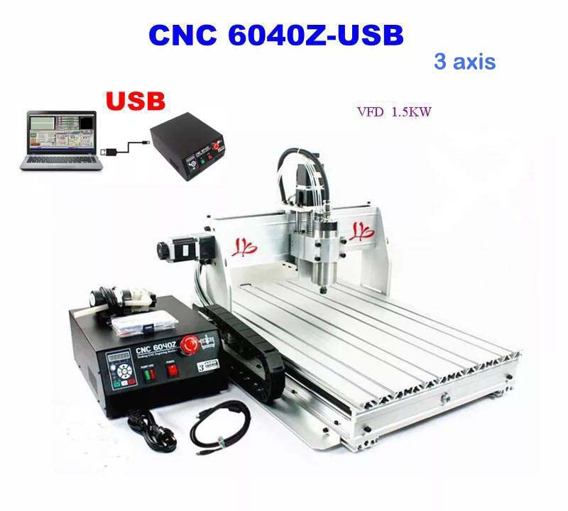 6040Z 3 Axis CNC Router Engraving Machine Drilling Milling Cutter Carving Tool Ball Screw Arts Best