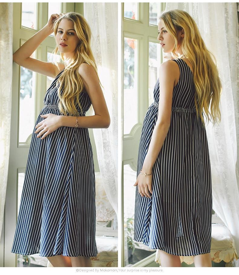 summer women maternity dresses for pregnant women loose clothing maternity fashion stripe home. Black Bedroom Furniture Sets. Home Design Ideas