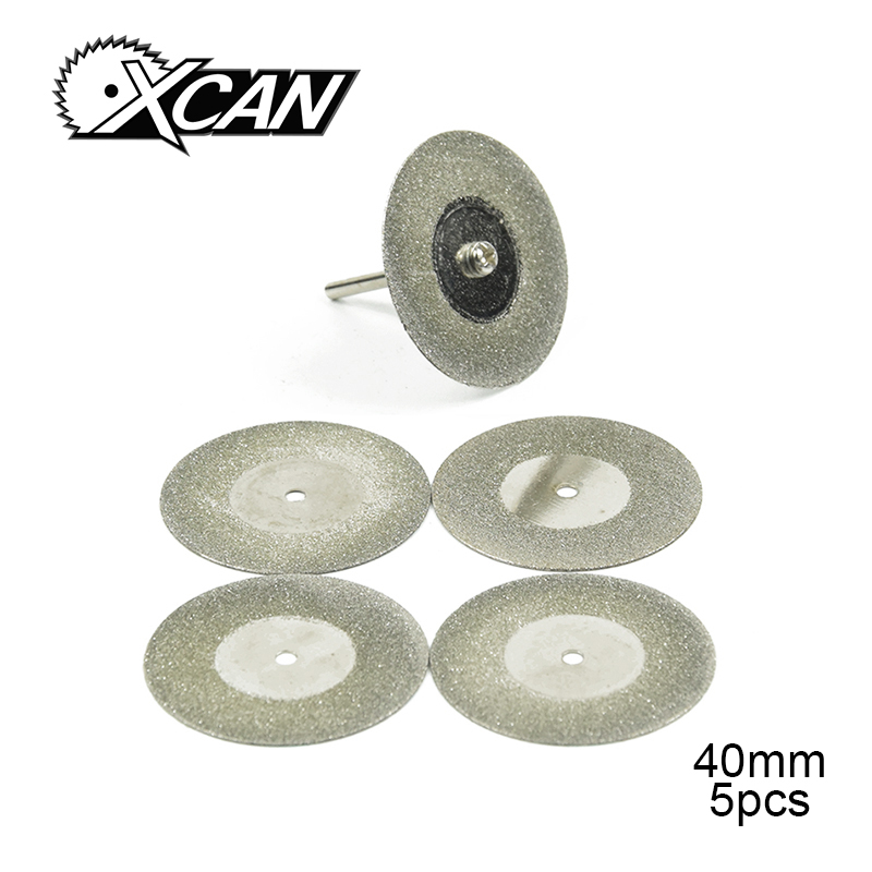 40mm 5pcs Mini Cutting Disc For Rotory Accessories Diamond Grinding Wheel Rotary Tool Circular Saw Blade Abrasive Diamond Disc