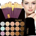 2016 New 15 Colors Concealer Palette Camouflage Face Cream Makeup Concealer Palette+20Pcs Makeup Brushes Set Beauty Tools #BSEL
