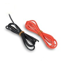 1meter Red+1meter Black 12# 12 AWG 12AWG Heatproof Soft Silicone Silica Gel Wire Connect Cable For RC Model Battery Part