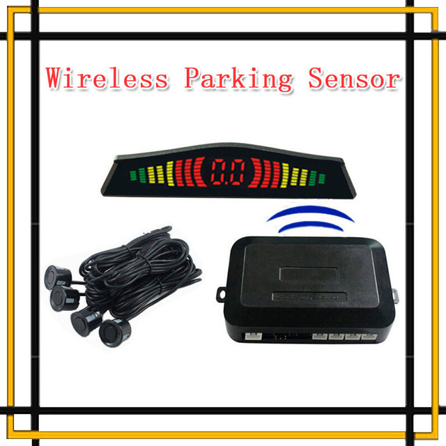 Car wireless Colorful LED Display sensor BIBI Alarm Sound Parking Reverse Backup Radar Vehicle 4 Sensors Parking System Assist