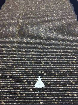 New Arrival french Net african  glitter  net lace fabric sequin lace fabric for evening party dress