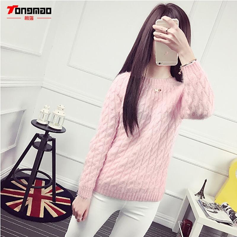 Modni casual jednobojni pleteni džemper s dnom dasaka Hidpokampus - Ženska odjeća - Foto 6