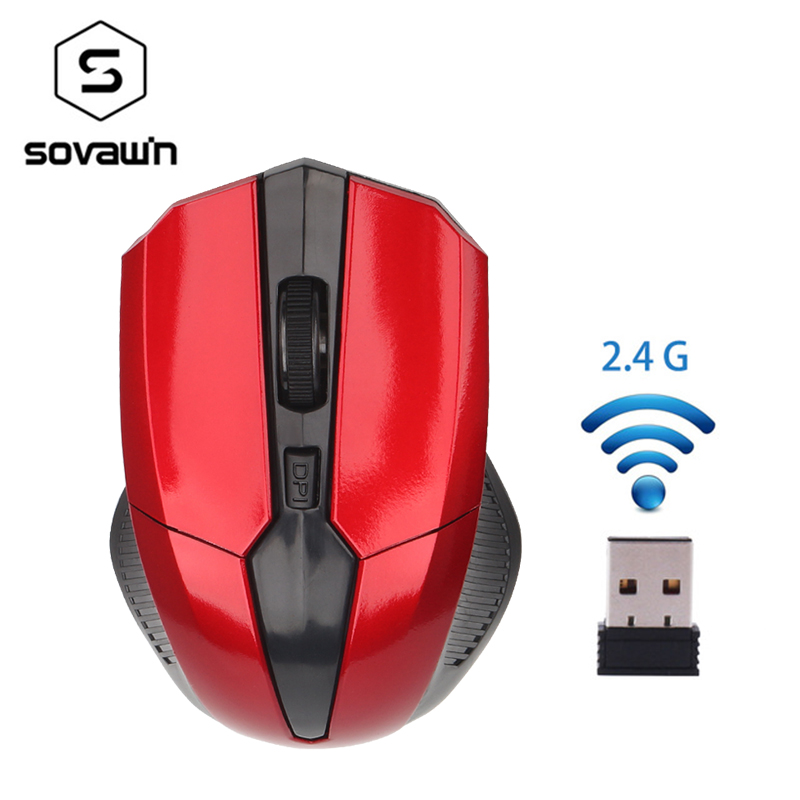PC Wireless 2.4G Optical Computer USB Mini 1600 DPI 6 Buttons Mouse Gaming Mini 1600dpi Cute Wireless Mause for PC Girl image