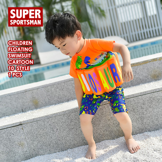 43ef4557fd Kids Boys Dinosaur Rashguard Swimwear Children Floating Swimming Surf Beach Bathing  Suit Baby Girls Cartoon Car Surfing Swimsuit