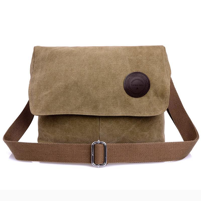 Canvas Men Crossbody Bag Shoulder Bag Male Messenger Bag Preppy Style Simple Packet Casual Men Small Handbags Tote Bolsos Mujer women handbag shoulder bag messenger bag casual colorful canvas crossbody bags for girl student waterproof nylon laptop tote