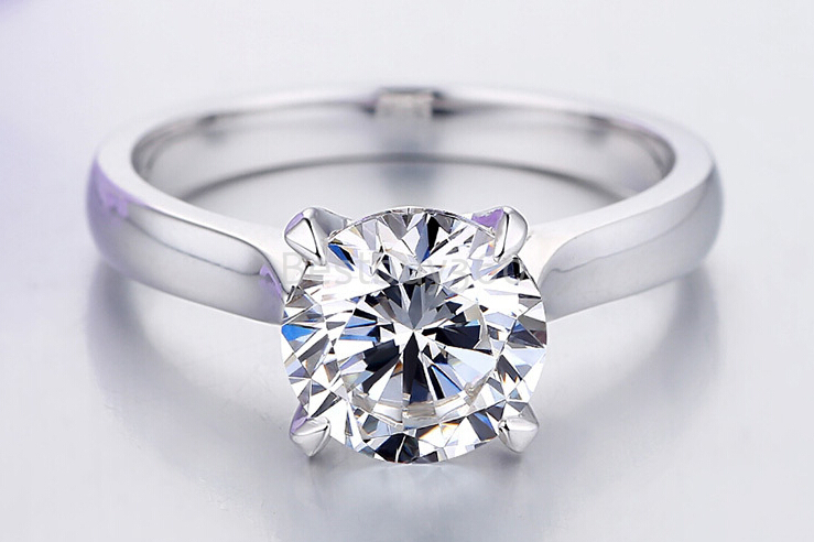 Us 323 4 Charles Colvard Brand New Original 1 Carat 4 Prongs 925 Sterling Silver Ring Carat Cushion Princess Cut Moissanite Ring In Rings From