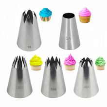 3Pcs Ruffle  Frill Cake Decorating Tip Set Seamless Stainless Steel icing piping nozzles set baking tool