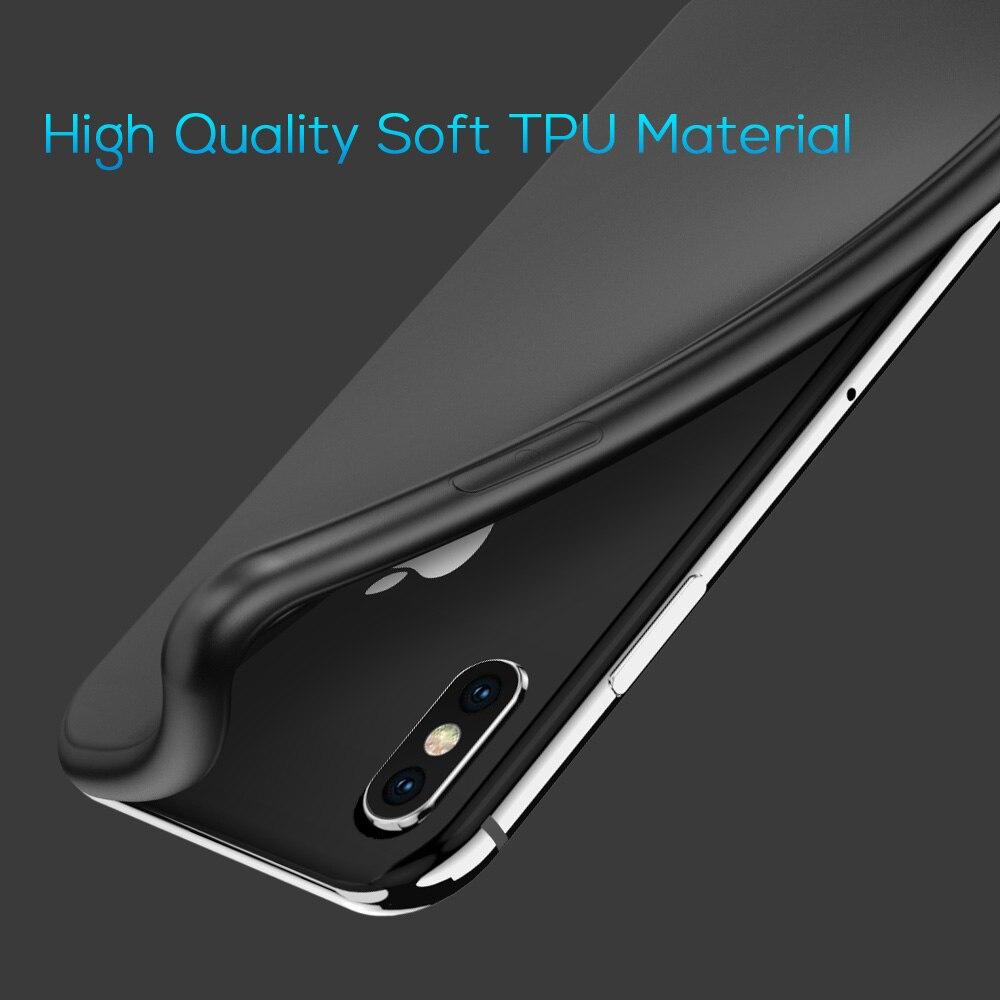 TOPK Ultra Thin Skin-friendly Soft Slim TPU Phone Case for iPhone X XR Xs Max 8 7 6 6s Plus 5 5s SE