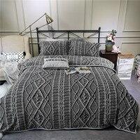 3D в полоску Леопардовый с цветочным принтом зимние толстые фланелевые постельное белье флис ткань набор пододеяльников для пуховых одеял