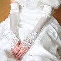 2016 Long Hot Sale alongar Rossoneri cor bordado luvas sem dedos luvas de noiva G020