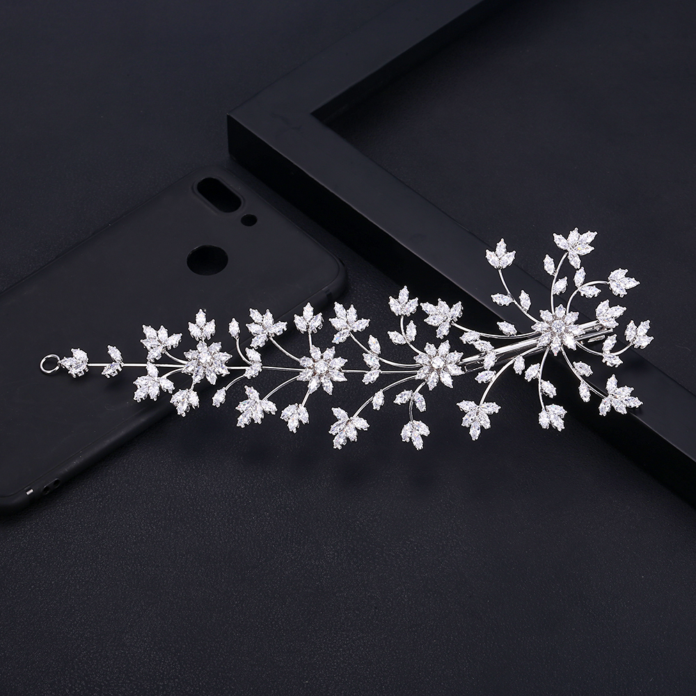 jankelly  Fashion Ladies Wedding Headpieces With cube zircon  Wholesale Bridal Hair Accessories Headdress Bridal Hair Tiaras-in Hair Jewelry from Jewelry & Accessories on Aliexpress.com | Alibaba Group
