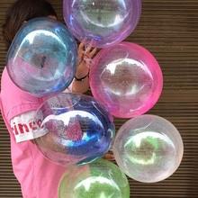 Happy Birthday Big Bobo Glitter Balloons Wedding Decoration DIY Transparent PVC Balls Baby Shower Helium Latex Ballons Party