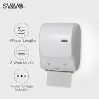 SVAVO Wall Mounted New ABS Plastic Automatic Cut Sensor Paper Towel Dispenser Touch Free Tissue Paper Holder For Kitchen