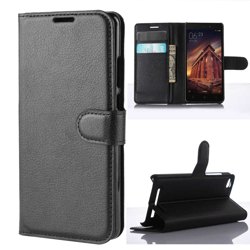 Xiaomi Redmi 3 Wallet Cover Card Holder Phone Cases for Xiaomi Redmi 3 Leather Case Protective Shell