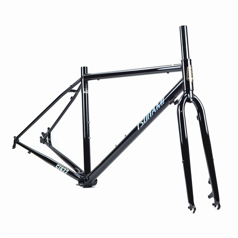 TSUNAMI Road Bike 700C 4130/520 Steel Tourist Bicycle Frame Mechanical Disc Brake 43/47/50