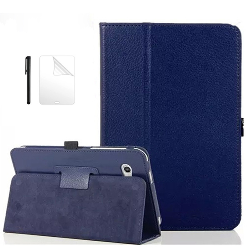 Flip Folio PU Leather Case Cover For Samsung Galaxy Tab 2 7 GT P3100 P3110 P3113 GT-P3100 7.0 Inch Stand Tablet Case+Film+Pen