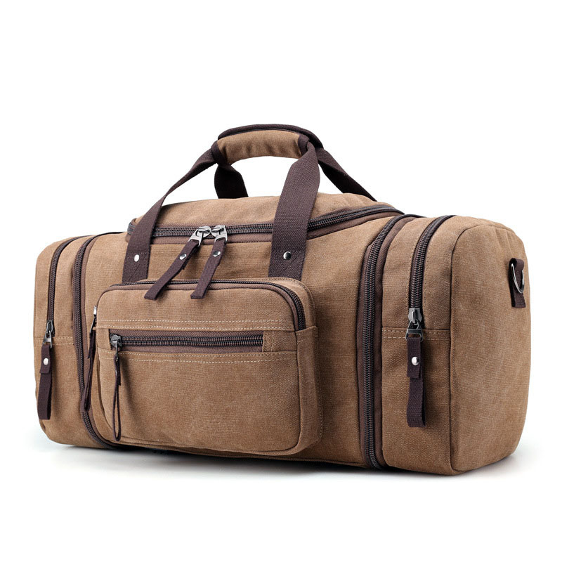 e45eac573463 Для мужчин большой Ёмкость Travel Несколько Карманы сумки Бизнес одного  плеча с плечевой ремень сумка для