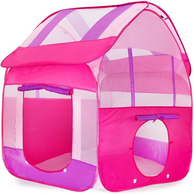 Dalosdream Pink Playhouse Tent for Girls - Polyester Nylon Pop Up for Indoor/Outdoor Fun  sc 1 st  AliExpress.com & Dalosdream Pink Playhouse Tent for Girls Polyester Nylon Pop Up ...