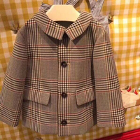 Комплект детской одежды куртка для мальчиков и девочек пальто + длинные штаны 2 шт. комплекты для детей костюм в полоску Костюмы в конце сент