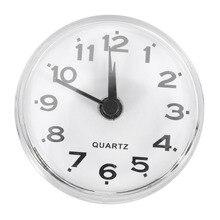 Модные водонепроницаемые кварцевые настенные часы с зеркалом на присоске для ванной, кухни, мини-часы для душа, Креативные украшения для спальни