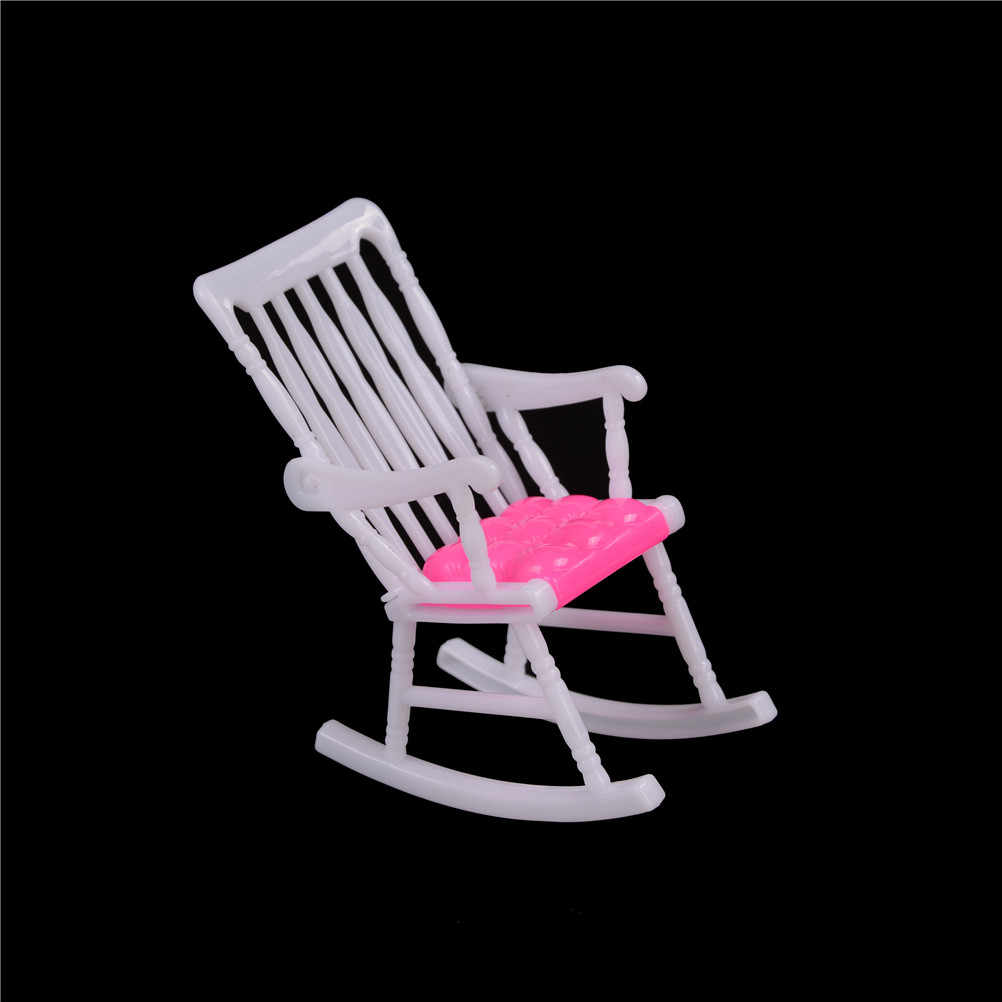 인형 집 가구 컴퓨터 의자 흔들 의자 소파 벤치 의자 라운지 인형 거실 침실 정원 어린이 장난감 액세서리