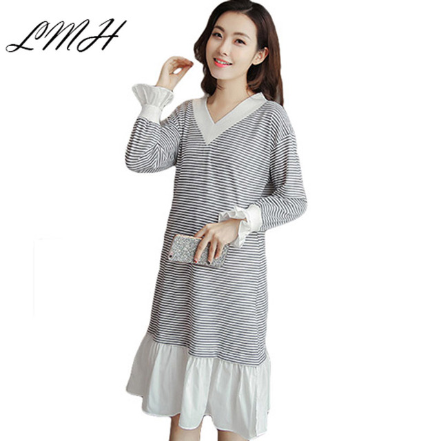 LANMEIHU 2017 cotton loose long pregnancy dresses maternity gowns ...