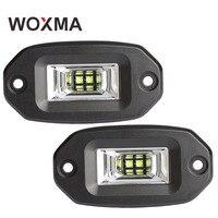 WOXMA LED 12v Car work Light Bar 20W 4x4 Offroad Car Accessories Flood Spot IP67 Work led Bar Light Pod 6000K White for SUV ATV