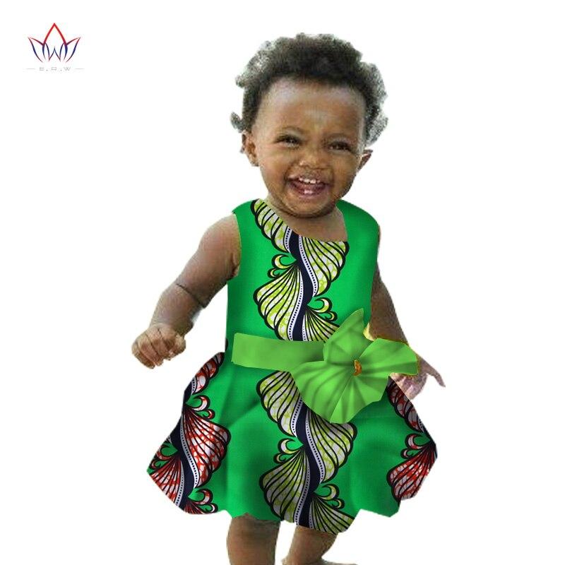 2018 Afrikanische Frauen Kleidung Kinder Dashiki Traditionellen Baumwolle Kleider Passenden Afrika Print Kleider Kinder Sommer Brw Wyt38 HeißEr Verkauf 50-70% Rabatt