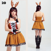 Christmas Dresses Women Winter 2017 Deer Cosplay Santa Claus Tree Fancy Party Role Playing Sexy Club