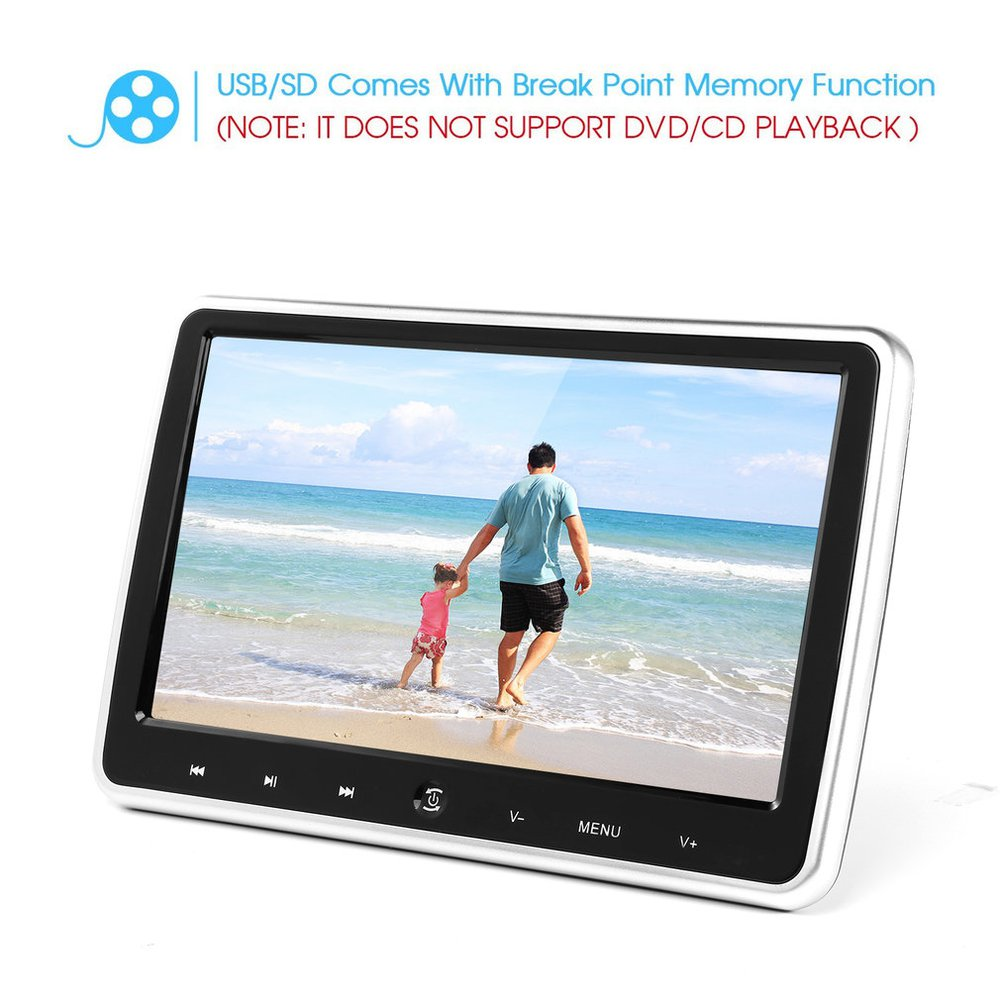 10.1 Inch Ultra-thin Car Headrest DVD Player 1024 * 600 With Remote Control Power-off Memory Function OSD Display10.1 Inch Ultra-thin Car Headrest DVD Player 1024 * 600 With Remote Control Power-off Memory Function OSD Display