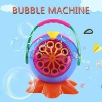 Automatic Bubble Machine Maker Bubble Blowing Soap Kids Christmas Gift Birthday Party Bubbles Sprayer Festival DIY Decor Navidad