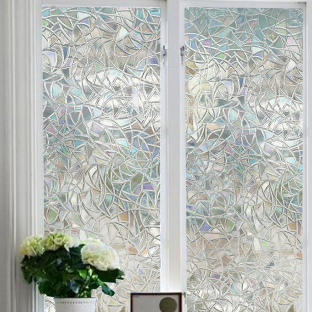 90x200cm 3d pvc opaque privacy static cling glass film home decorative window filmchina - Decorative Window Film
