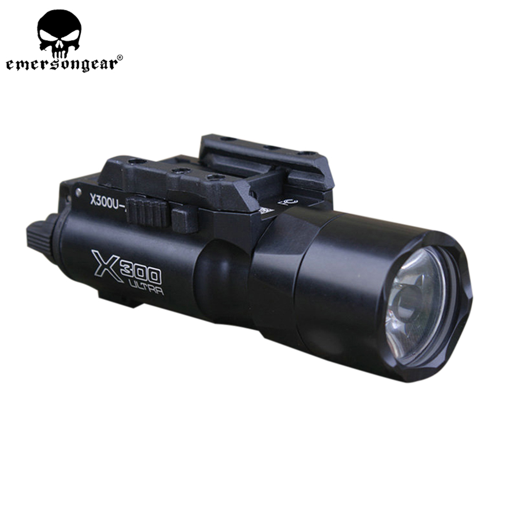 EMERSONGEAR Tactical Flashlight X300 Ultra LED Pistol Weapon Light White Light Gun for Hunting Airsoft Wargame BD9009