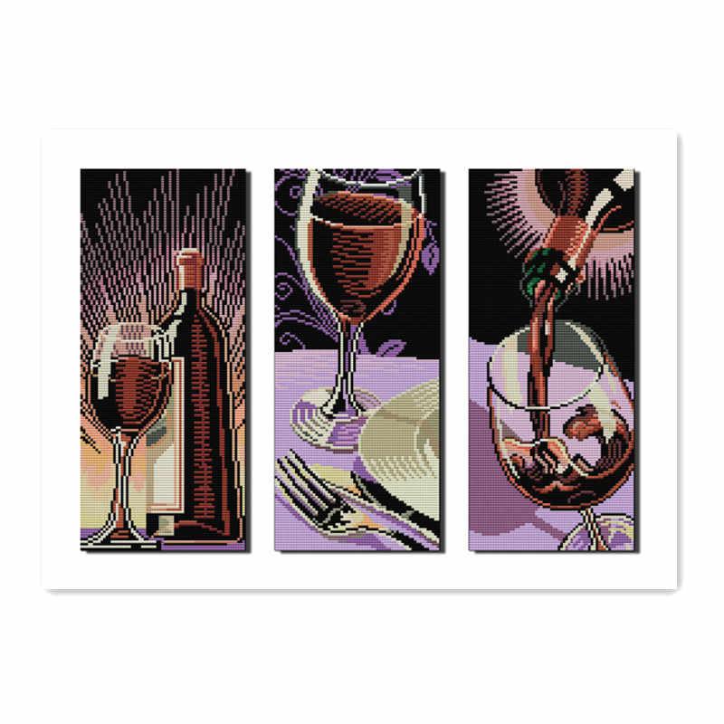 Joy Sunday мебель швейная ручная вышивка крестиком набор 11CT 14CT ткань красное вино культура ремесла украшения аксессуары живопись