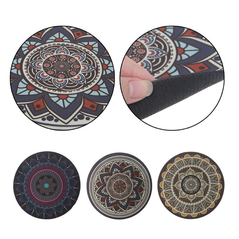 Vintage Bohemian Round Computer 3D Carpet Mouse Pad Mat Mousepad Anti Slip for Home Office PC Gaming Mousepad New
