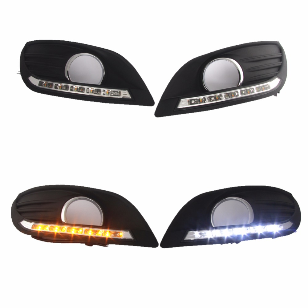 For ford focus Classic Style 2009-2011 Auto Parts car-styling LED Daytime Running Light led DRL day light багажник на крышу lux ford focus 2011 1 2м аэродинамические дуги узкие 699475