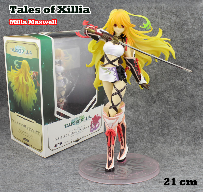 Free Shipping Sexy 8 Anime Tales of Xillia Milla Maxwell 1/8 Scale Boxed 21cm PVC Action Figure Collection Model Doll Toy Gift tales of xillia tales of xillia 2 игра для ps3