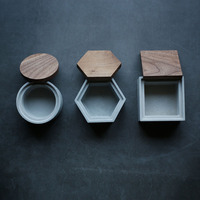 Cement storage box silicone molds concrete moulds with lid mold square round hexagon box mold