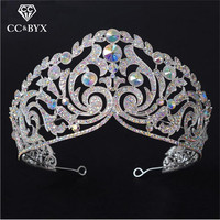 CC tiaras and crowns luxury big crown pageant rhinestone baroque style wedding hair accessories for bridal fine jewelry HG532
