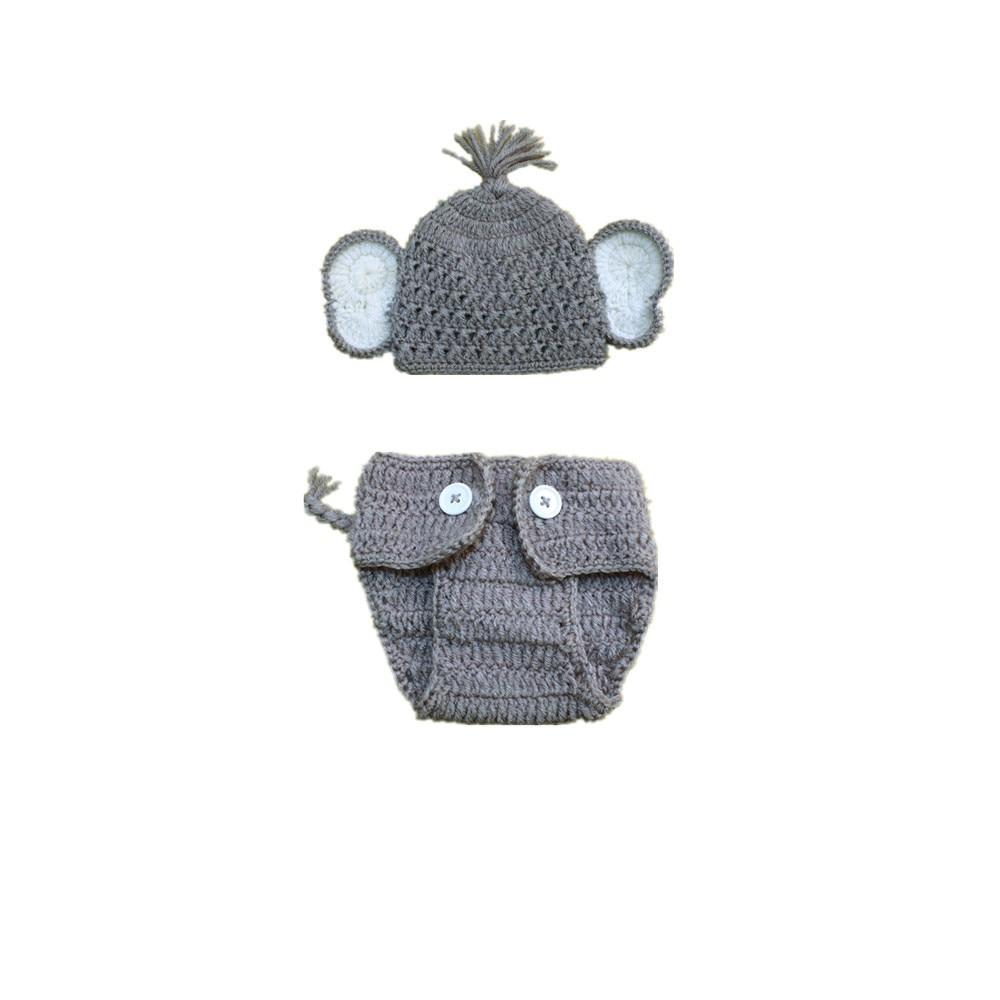 Envío Gratis manual elefante tejido animales bebé adorable Bebé Ropa ...