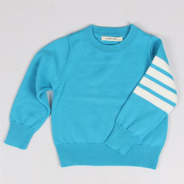 2016 meninas novas dos meninos camisola crianças cardigan quente outono inverno pullover crianças roupas 1-5 anos de escola estilo listrado outfits
