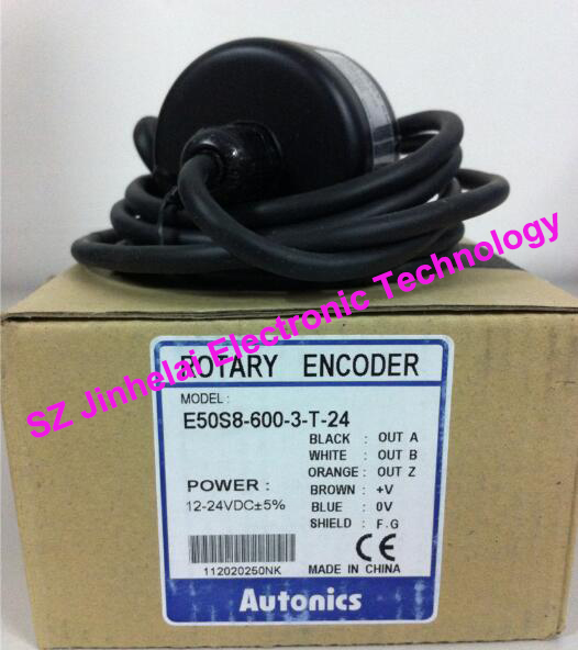 E50S8-600-3-T-24  New and original  AUTONICS  ENCODER  12-24VDC new and original e3x da11 s omron optical fiber amplifier photoelectric switch 12 24vdc