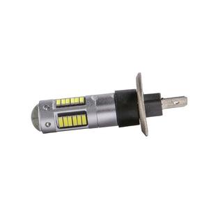 Image 2 - 2Pcs H3 H1 W5W T10 화이트 4014 칩 30 SMD 높은 전원 LED 안개 빛 헤드 라이트 램프 전구 렌즈 DC 12V