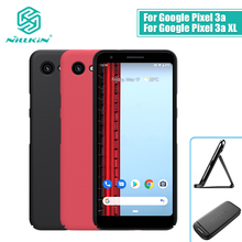Voor Google Pixel 3a Case Cover Nillkin Frosted Pc Matte Hard Cover Met Gift Telefoon Houder Voor Google Pixel 3a Xl Case Cover