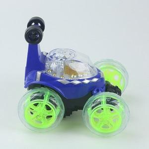 Image 3 - Электрический мини Радиоуправляемый автомобиль с дистанционным управлением, модель каскадеров, мигающий свет, музыка, 360 градусов, дрейф, вращающийся, игрушечный автомобиль, детские игрушки